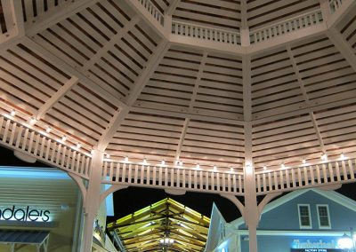 Merrimack Premium Outlets Gazebo at Night