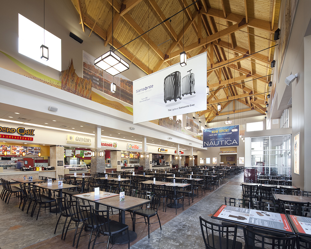 Merrimack Premium Outlets Food Court Interior