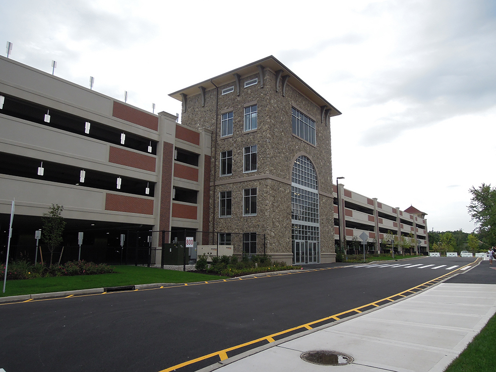 Woodbury Common Parking Deck Circulation Core and Main Entry
