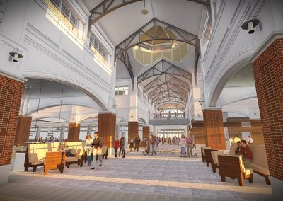 WCPO Market Hall Interior Rendering