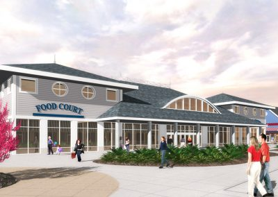 Jersey Shore Food Court Exterior Rendering