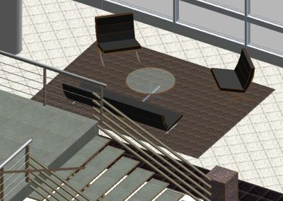 Ovens Auditorium Lobby Seating Option A1