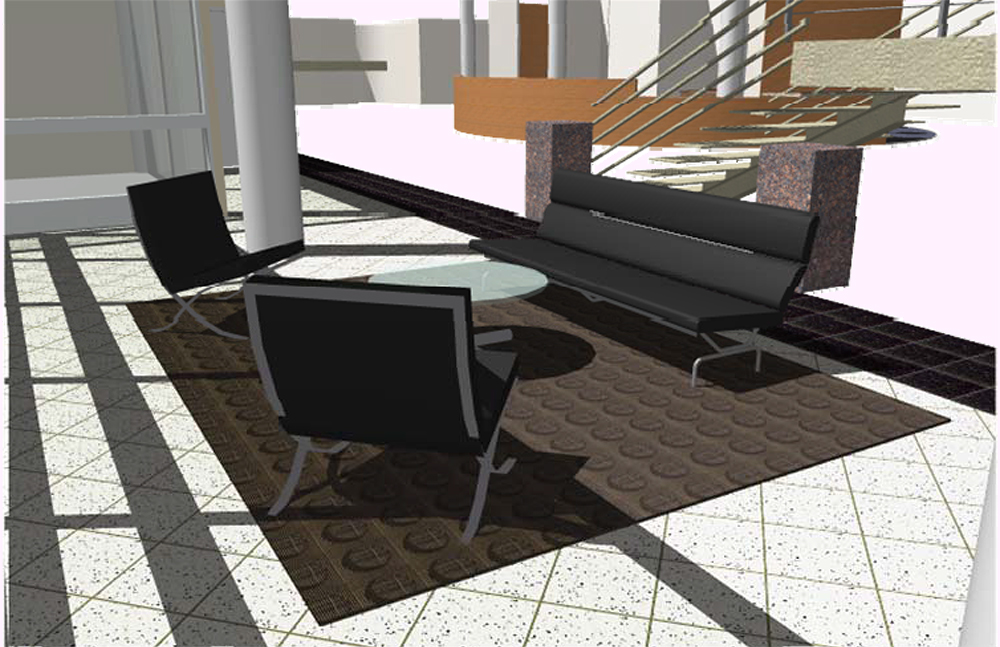 Ovens Auditorium Lobby Seating Option A2