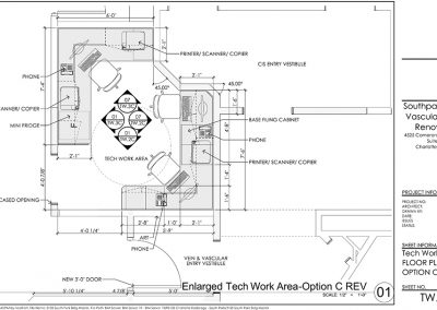 Vein Center Tech Area Renovation Plan