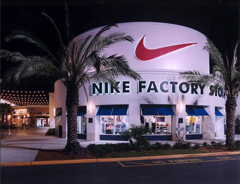 OPO Nike Entrance at Night