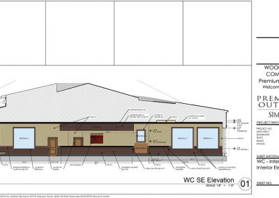WCPO Welcome Center Interior Elevation 3