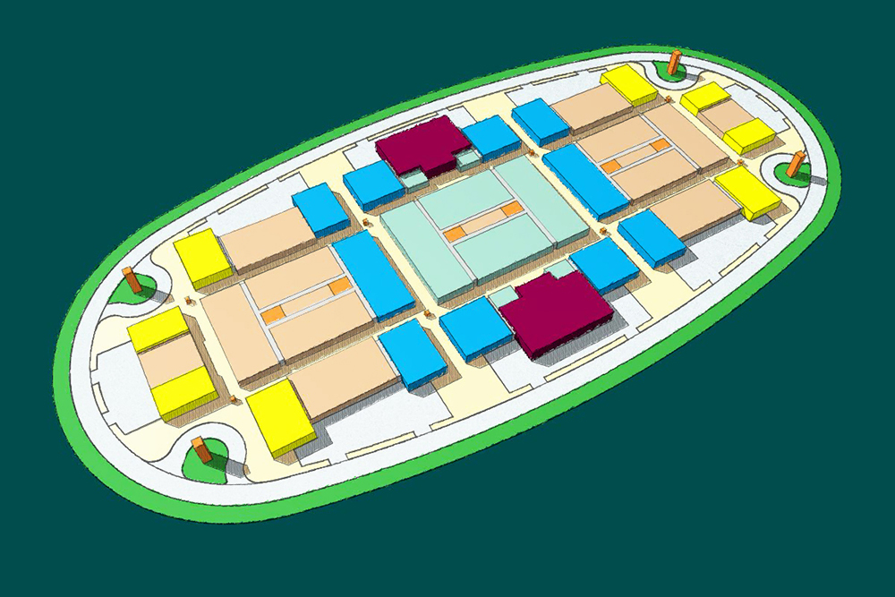 Site Plan Massing Illustration