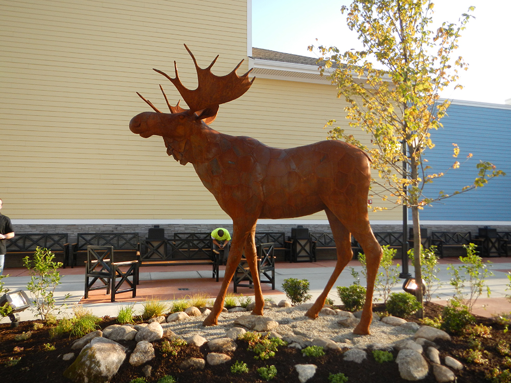 Moose Sculpture by Chris Williams