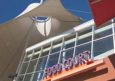 Las Vegas Premium Outlets Food Court Storefront Glazing Exterior Tensile Structure