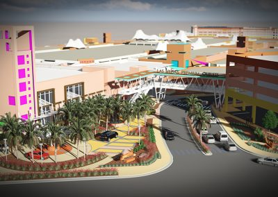 Las Vegas Premium Outlets North Bonneville Entry Plaza Rendering