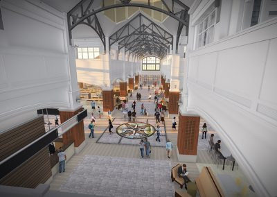 WCPO Market Hall Interior Rendering from Bridge