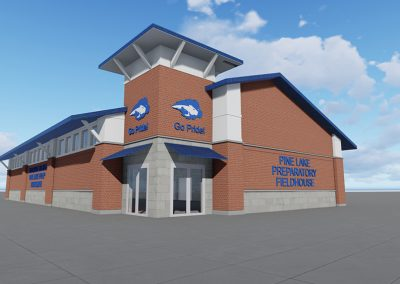 Pine Lake Prep Fieldhouse Schematic Design Concept