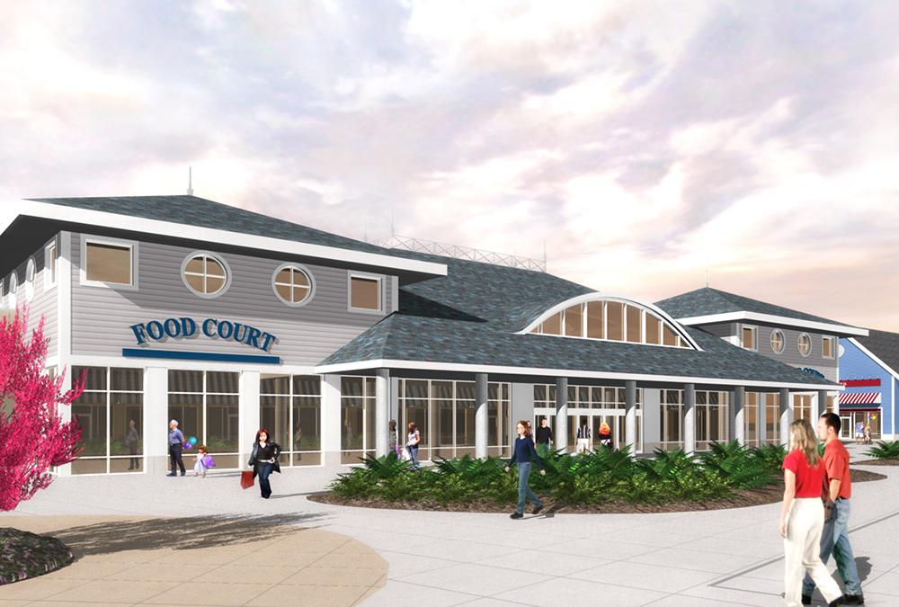 Jersey Shore Food Court Exterior Rendering