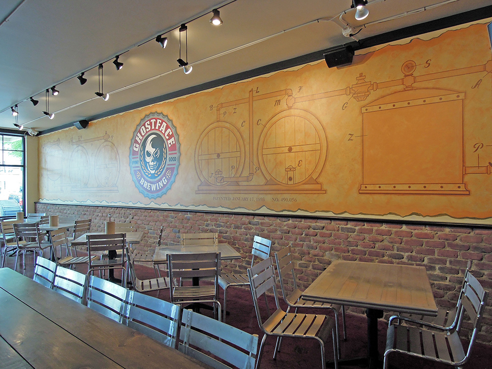 Ghostface Seating Dining Area Restaurant Mural