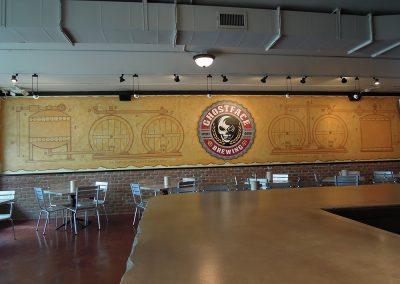 Ghostface Taproom Bar Mural