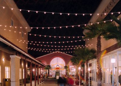 Orlando Premium Outlets Vineland Food Court Design Lighting Night