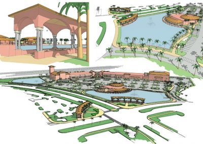 Orlando Premium Outlets Concept Sketches Design Development
