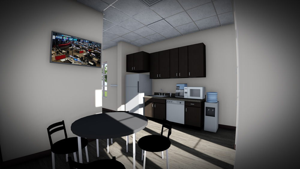 Medical Office Break Room Staff Lounge Interior Rendering