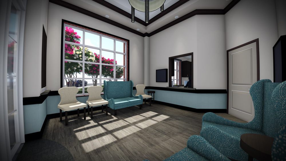 Medical Office Charlotte Radiology Interior Rendering