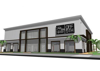 Orlando Premium Outlets Saks Design Rendering