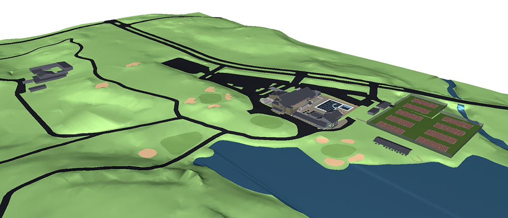 Country CLub Master Planning Site 3D BIM
