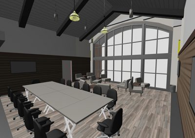Woodbury Common Premium Outlets Market Hall Lounge Interior Design 3D View