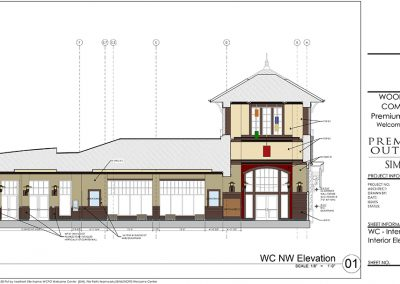 Woodbury Common Premium Outlets Welcome Center Interior Design Elevation