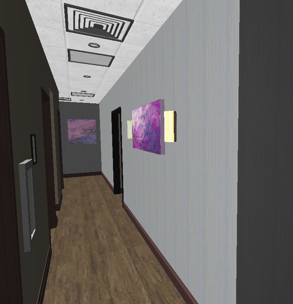 3D Model View Patient Corridor Interior Design