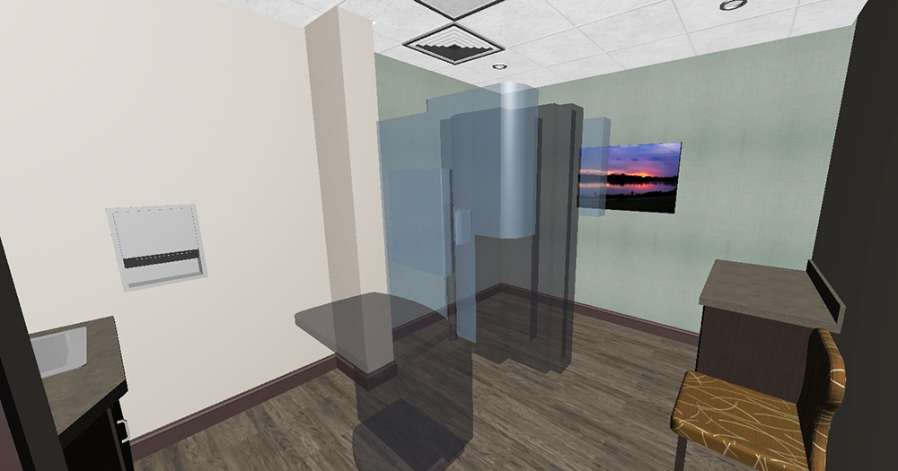 3D model view Mammography Exam Room Interior Design