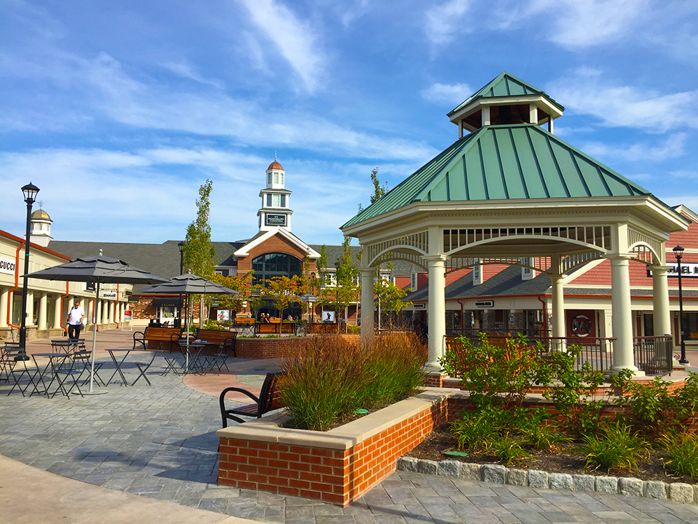 Woodbury Common Gazebo Market Hall Hardscape Landscape Design Coordination