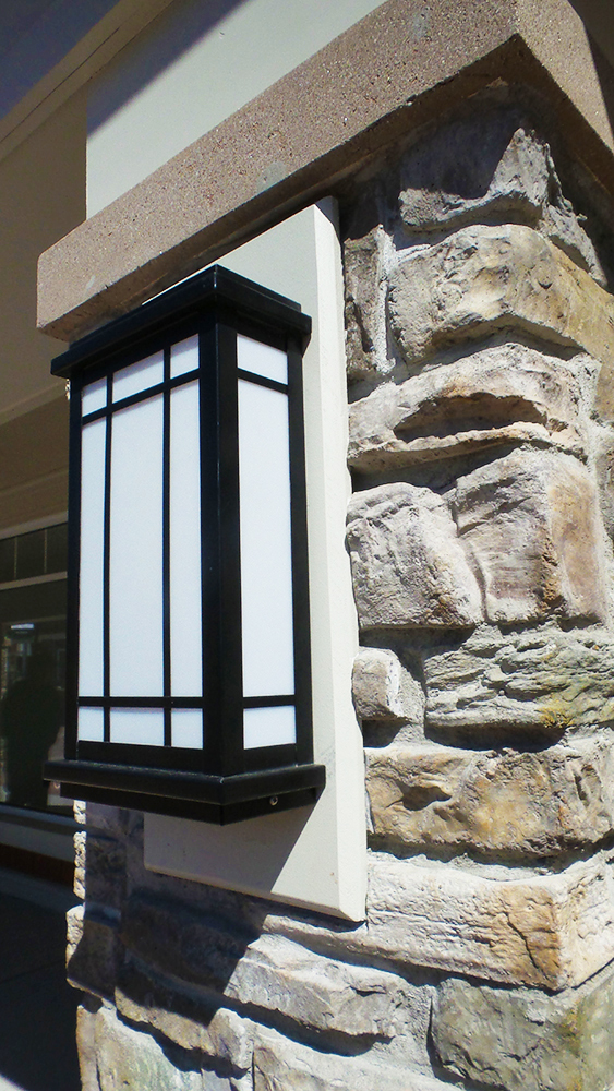 Woodbury Common Premium Outlets Column Sconce Detail